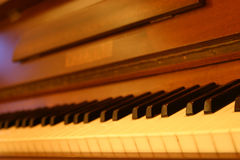 Piano Keys. Old piano keys stock photo