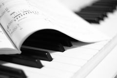 Piano keys. Background from above Stock Photography