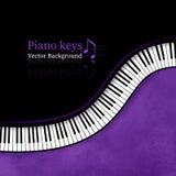 Piano keys background. Piano keys grunge vector background Royalty Free Stock Photos