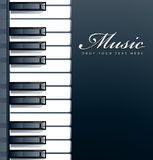 Piano keys background Stock Photography