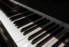 Piano Keys. Black and white piano keys stock photography