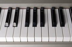 Piano keys. Black and white piano keys stock images