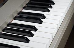 Piano keys. Black and white piano keys stock photography