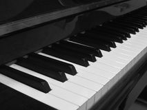 Piano keys in black and white Royalty Free Stock Images