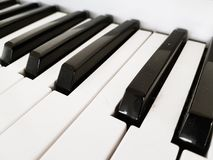 Piano keys in black and white stock images
