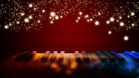 Piano keys on bokeh colorful light Royalty Free Stock Image