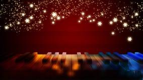 Piano keys on bokeh colorful light Royalty Free Stock Image
