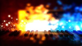 Piano keys on bokeh colorful light Royalty Free Stock Images