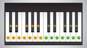 Piano keys chart. Chart of piano keys with corresponding sound symbols Royalty Free Stock Photography