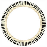Piano Keys Circle Royalty Free Stock Photography
