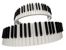 Piano keys (clipping path included) Royalty Free Stock Image