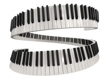 Piano keys (clipping path included) Royalty Free Stock Photo