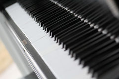 Piano Keys. A close look down the keys of a piano Royalty Free Stock Images