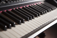 Piano Keys Close Up Stock Photo