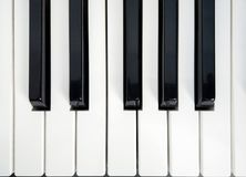 Piano keys close up royalty free stock photo