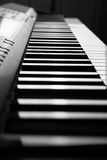 Piano keys close-up. Black and white keys of the piano close-up Royalty Free Stock Image