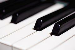 Piano keys. Close-up. Horizontal image Stock Photography