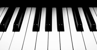 Piano Keys. This is a close-up shot of a piano keyboard Stock Photo