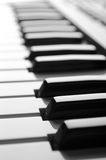 Piano. Keys close-up view black&white Stock Images