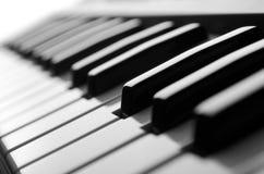 Piano. Keys close-up view black&white Stock Photo