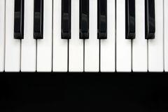 Piano keys closeup Royalty Free Stock Images