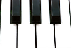 Piano keys, closeup Stock Photography