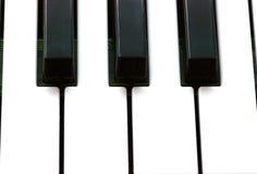 Piano keys, closeup Stock Photography