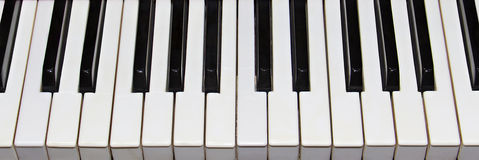Piano keys closeup as background Royalty Free Stock Images