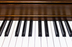 Piano Keys Closeup Background Stock Images