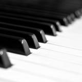 Piano keys closeup Royalty Free Stock Photo