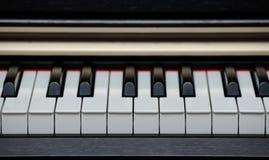 Piano keys closeup Stock Images