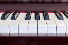 Piano keys closeup Royalty Free Stock Photo
