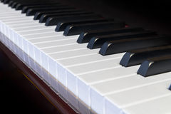 Piano keys closeup Royalty Free Stock Photos