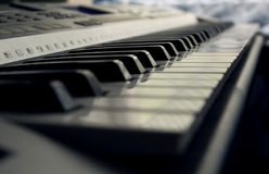 piano keys closeup Stock Photography