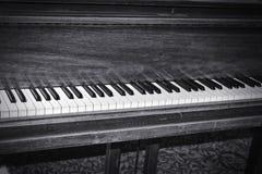 Piano keys closeup monochrome Stock Photos