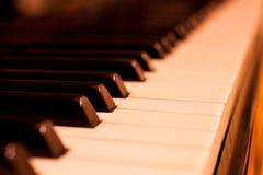 Piano keys closeup Stock Image