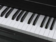 Piano keys closeup shot Stock Images