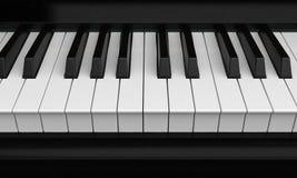 Piano Keys Closeup Stock Photos