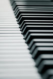 Piano keys in cool tone Royalty Free Stock Image