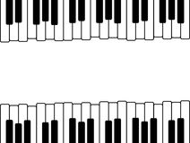 Piano keys with copy space Stock Photos