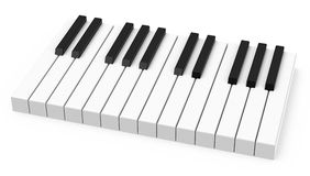 The piano keys. 3d generated picture of piano keys Royalty Free Stock Images
