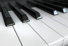 Piano keys. 3d render of white and black piano keys stock illustration