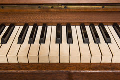 Piano keys. Detail of keys on a piano classic Royalty Free Stock Photography