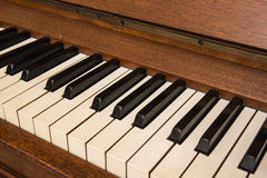 Piano keys. Detail of keys on a piano classic Royalty Free Stock Images