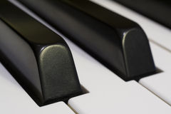 Piano Keys. Detail of Piano Keys Horizontal Close-up Photograph Royalty Free Stock Image
