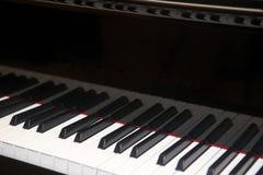 Piano keys detail in horizontal format Stock Photography