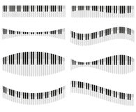 Piano keys for different forms of design Royalty Free Stock Photo