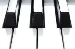 Piano keys extreme closeup Royalty Free Stock Photography