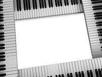 Piano keys frame Stock Photos