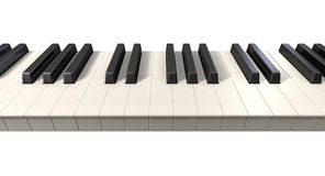 Piano Keys Front Royalty Free Stock Photos